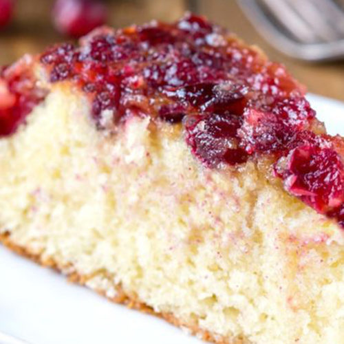 Crisco Apple Cranberry Upside-Down Cake
